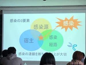 感染対策特別講義を行いました。
