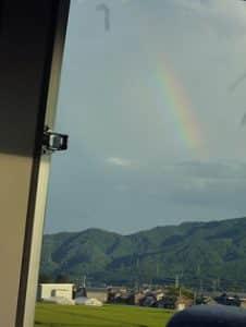 21日は村上でも虹がかかりました