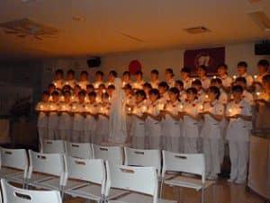 姉妹校の「ともしびの灯」をお祝いしてきました
