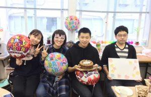 留学生の誕生日会